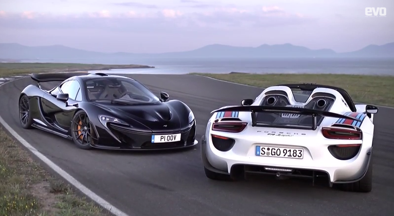 mclaren p1 v porsche 918 spyder at anglesey. Black Bedroom Furniture Sets. Home Design Ideas