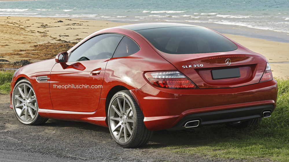 mercedes slk coupe envisioned as cayman fighter. Black Bedroom Furniture Sets. Home Design Ideas