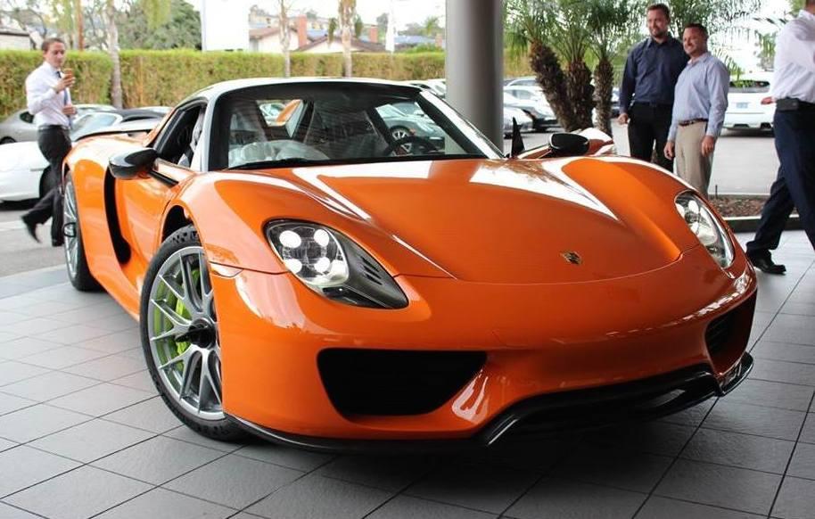 Tuningcars Orange Porsche 918 Spyder