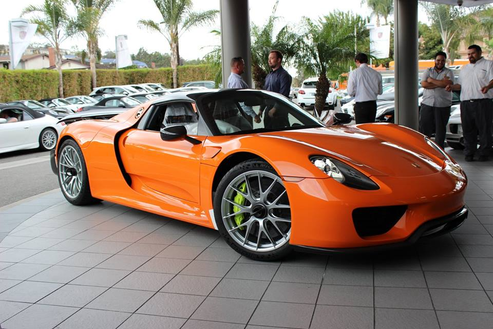 tuningcars orange porsche 918 spyder. Black Bedroom Furniture Sets. Home Design Ideas