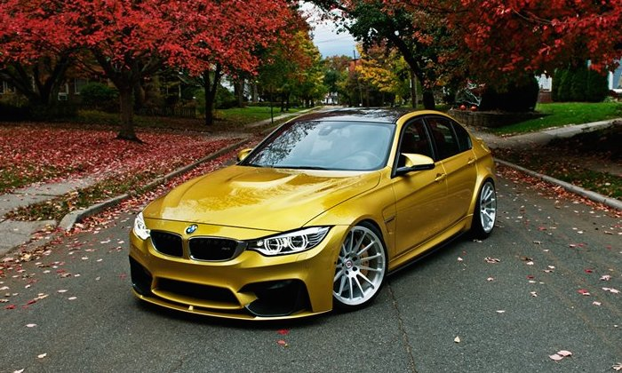 Golden Bmw M3 On Hre Wheels