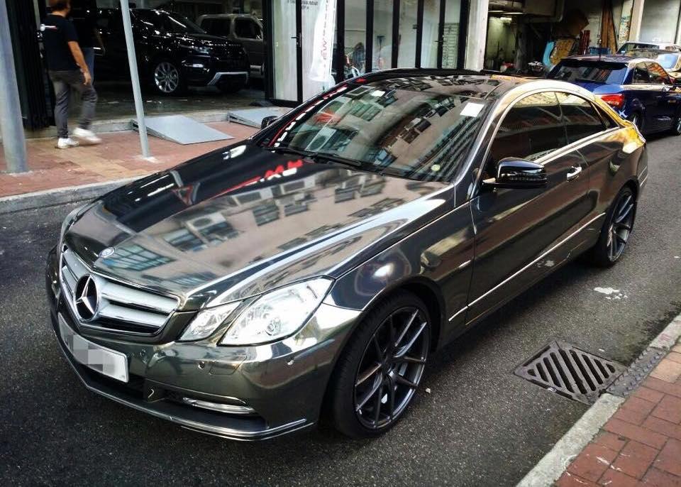 Black Chrome Mercedes E Coupe
