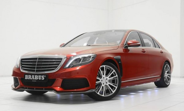 Brabus Mercedes S Class 0 600x362 at Red Brabus Mercedes S Class Revealed for Christmas