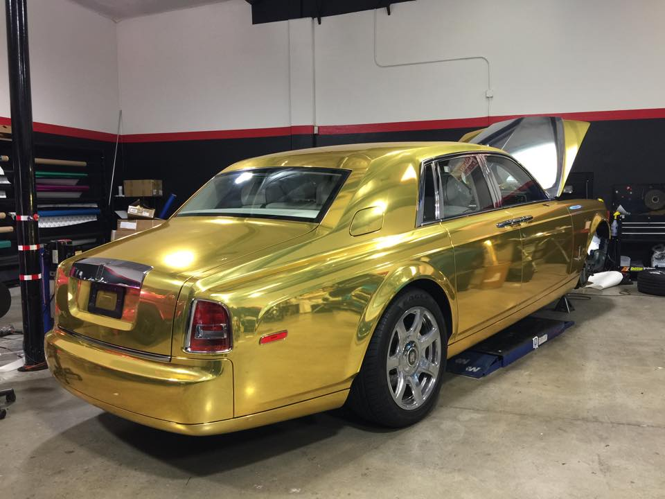 Yellow Rolls Royce Cast Gallery Gold Chrome Rolls Royce Phantom Rolls Royce Phantom V Mpw Rhd