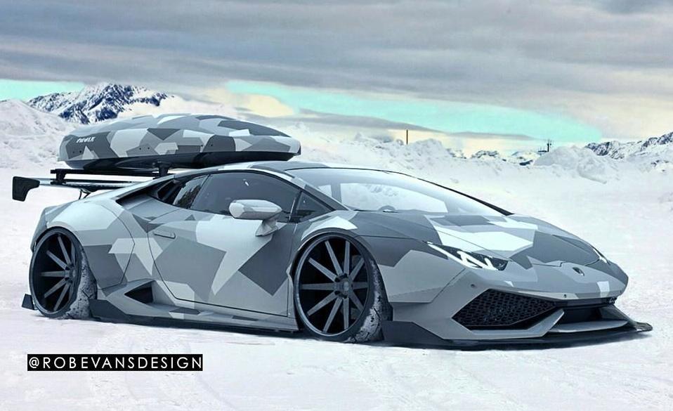 Roof Rack Lamborghini >> Lamborghini Huracan Snow Patrol