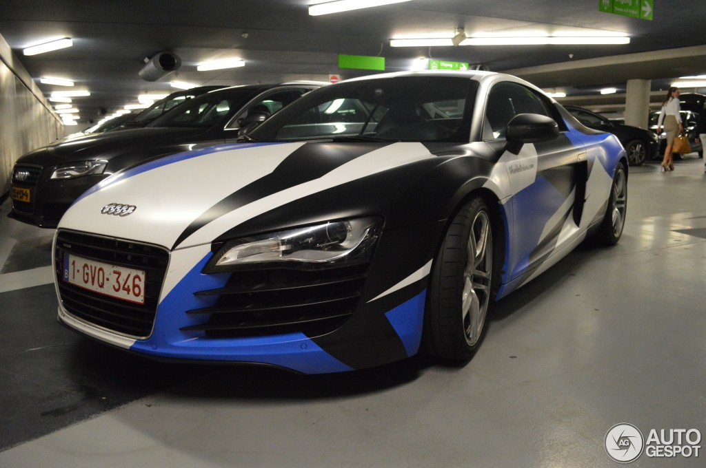 Audi R8 Spotted In Arctic Camo Wrap