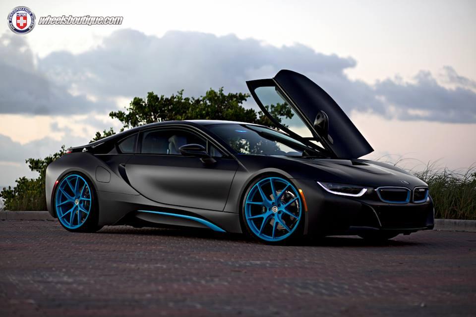 Gallery BMW i8 on Blue HRE Wheels  Motorward