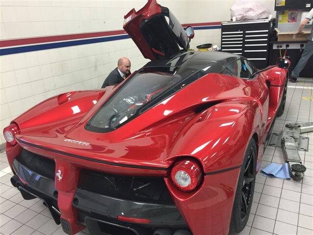Juicy Red LaFerrari at Horsepower Racing UK