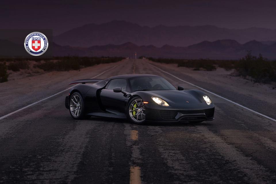 918 spyder hre 3 175x175 at black porsche 918 spyder on hre wheels - Porsche Spyder 918 Black