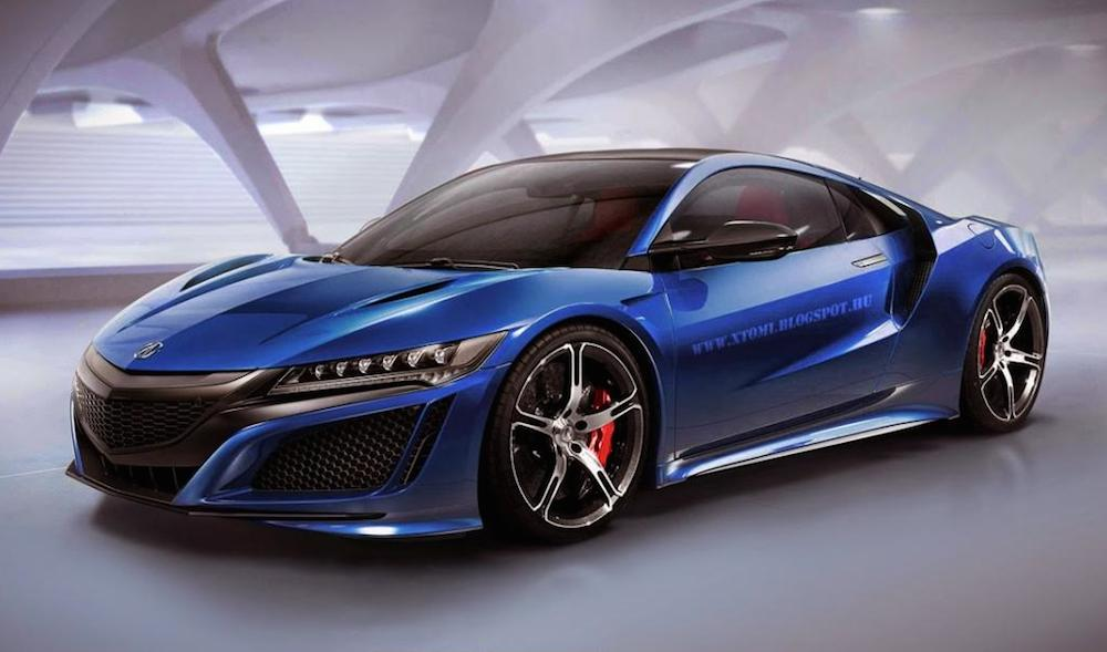 Rendering Acura Nsx Type R on mitsubishi fast cars