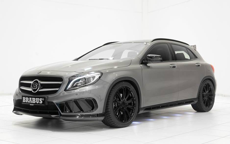 tuningcars brabus mercedes gla amg pack with black wheels. Black Bedroom Furniture Sets. Home Design Ideas