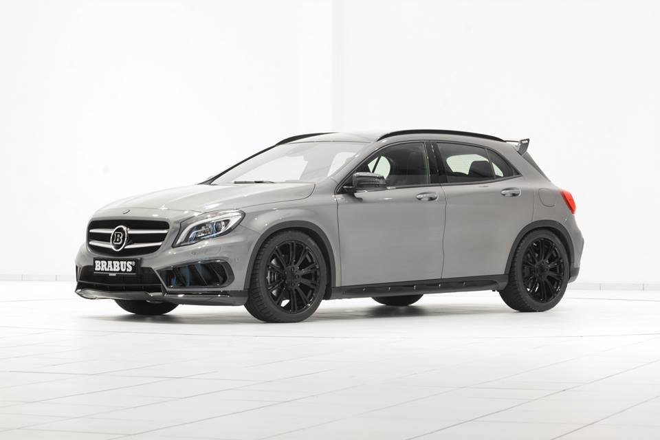 brabus mercedes gla amg pack with black wheels. Black Bedroom Furniture Sets. Home Design Ideas