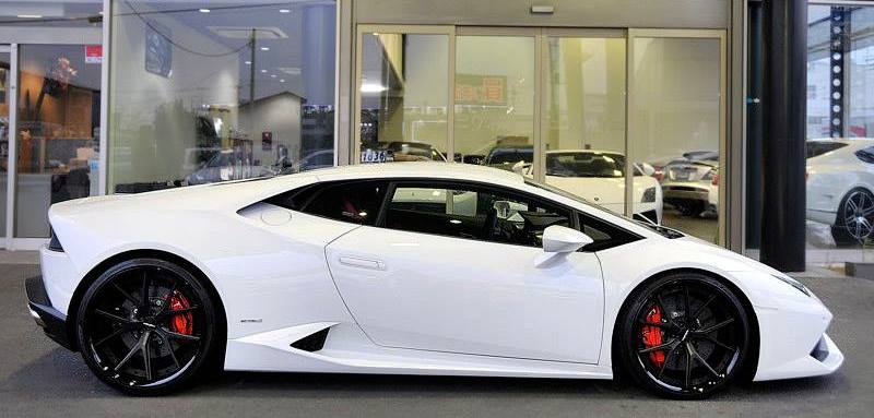 imgs for white lamborghini huracan black rims