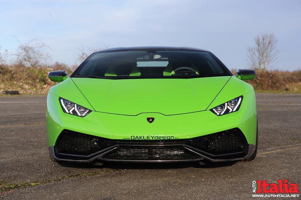 Кислотно зелёная Lamborghini Huracan от Oakley Design