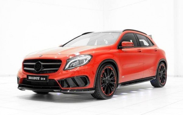 Red Brabus Mercedes GLA 0 600x378 at Gallery: Red Brabus Mercedes GLA AMG