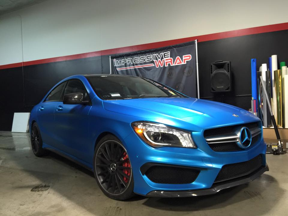 Gallery Satin Ocean Blue Mercedes Cla45 Amg