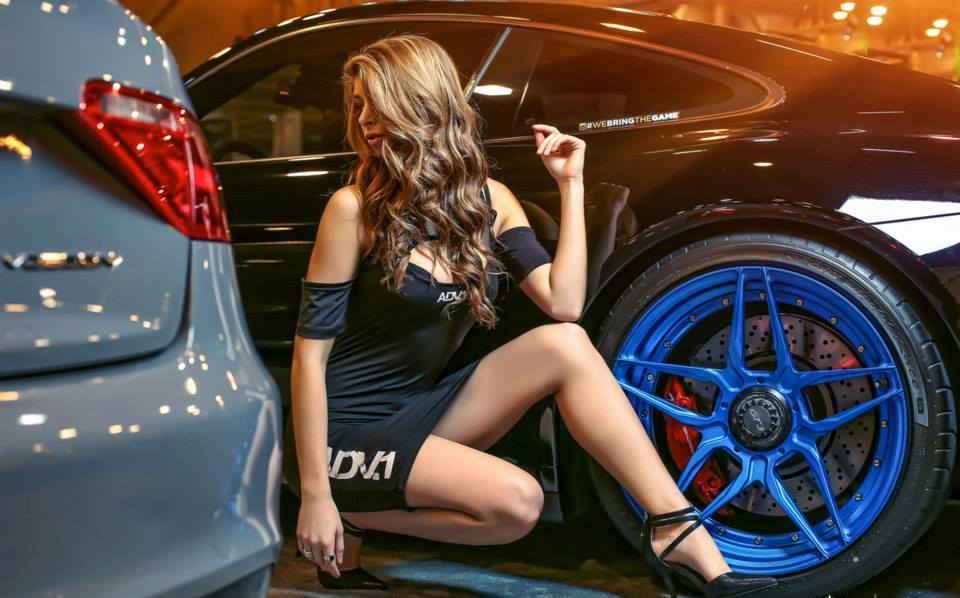 The Girls Of Adv1 Wheels At Huston Auto Show