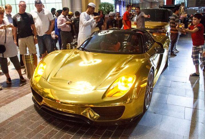 Gold Car Bonanza in Dubai: 918, G63 6x6, Aventador & Range ...