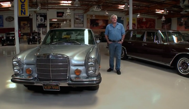 Jay Leno Shows Off His Classic Mercedes Saloons