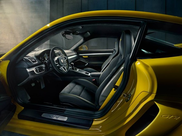 Cayman GT4 Interior 0 600x450 at Gallery: Porsche Cayman GT4 Interior Detailed