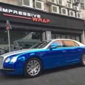 Chrome Carbon Wrap 0 175x175 at Blue & Chrome Carbon Wrap for Bentley Flying Spur