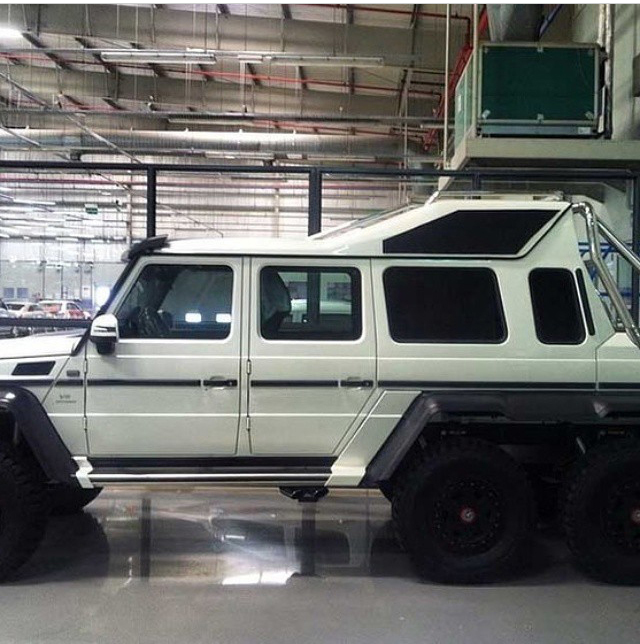 Custom Mercedes G63 6x6 Limo Spotted At Amg