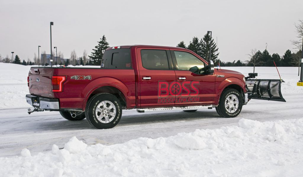 ford f 150 snow plow in action. Black Bedroom Furniture Sets. Home Design Ideas