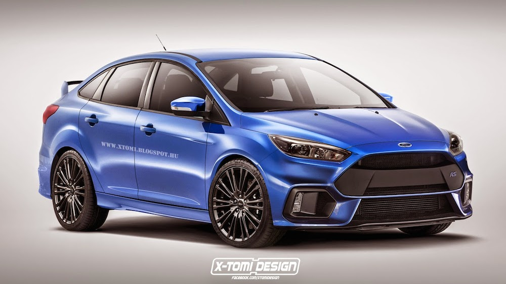 renderings ford focus rs sedan and wagon. Black Bedroom Furniture Sets. Home Design Ideas