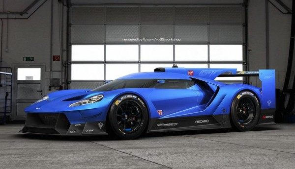 Rendering Ford Gt Le Mans Prototype