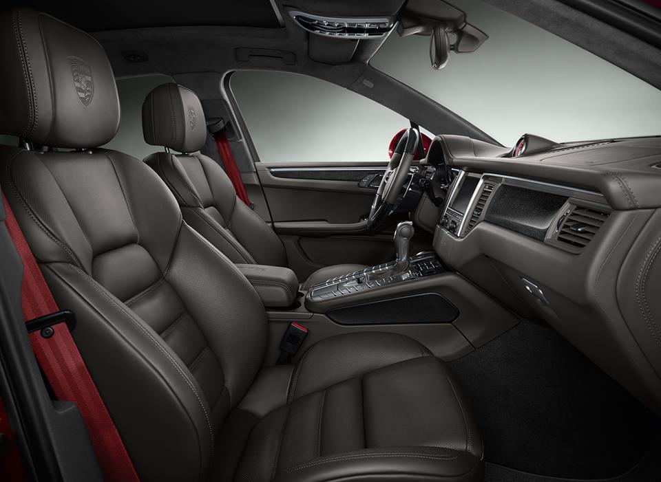Exclusive impulse red porsche macan turbo - Porsche macan white with red interior ...