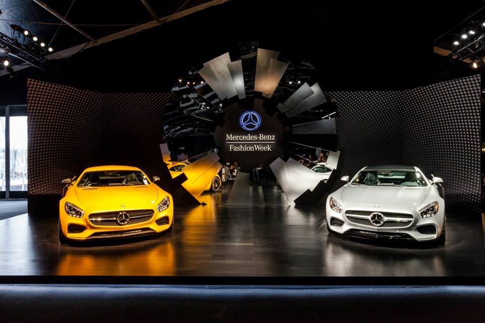 Amg gt and g550 at mercedes benz fashion week for Mercedes benz fashion week