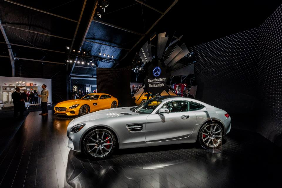 Amg gt and g550 at mercedes benz fashion week for Mercedes benz amg clothing