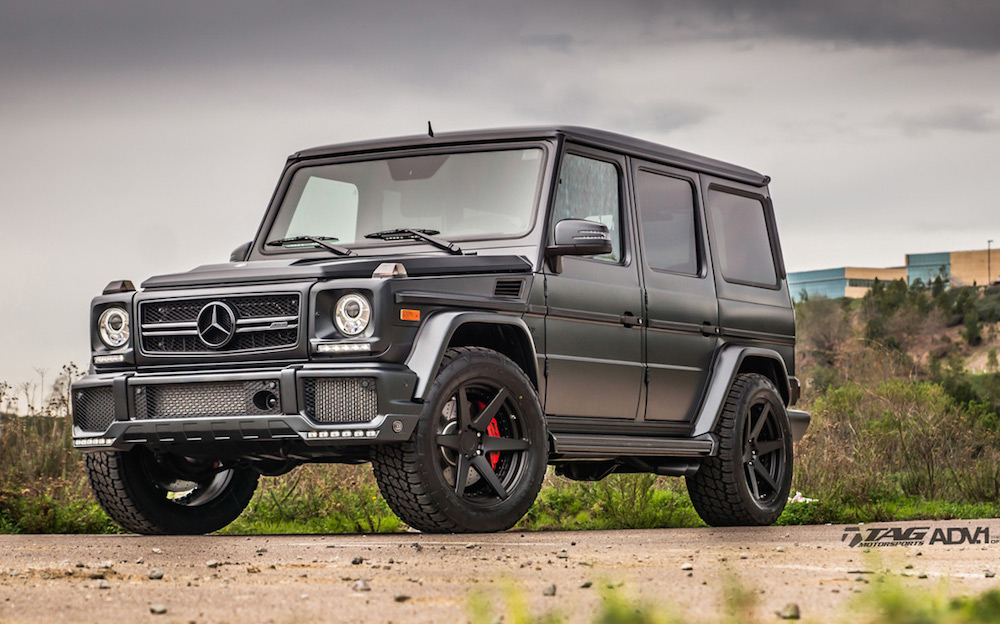 Tuningcars mercedes g63 amg with offroad tires for Mercedes benz ml320 tires
