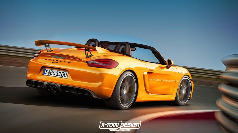 Неофициальное фото Porsche Boxster GT4 от X-Tomi Design
