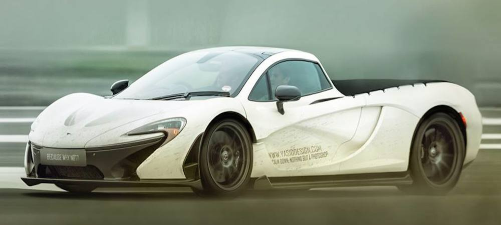 How About A Mclaren P1 Pickup Truck