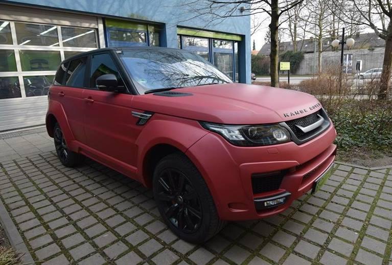 Hamann Range Rover Sport In Matte Red