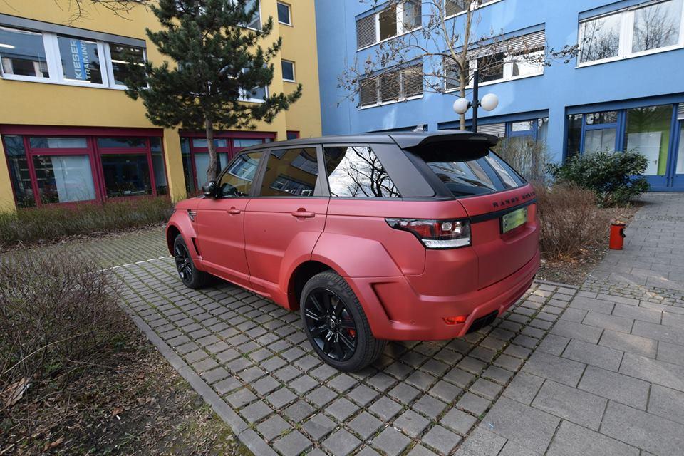 Tuningcars Hamann Range Rover Sport In Matte Red