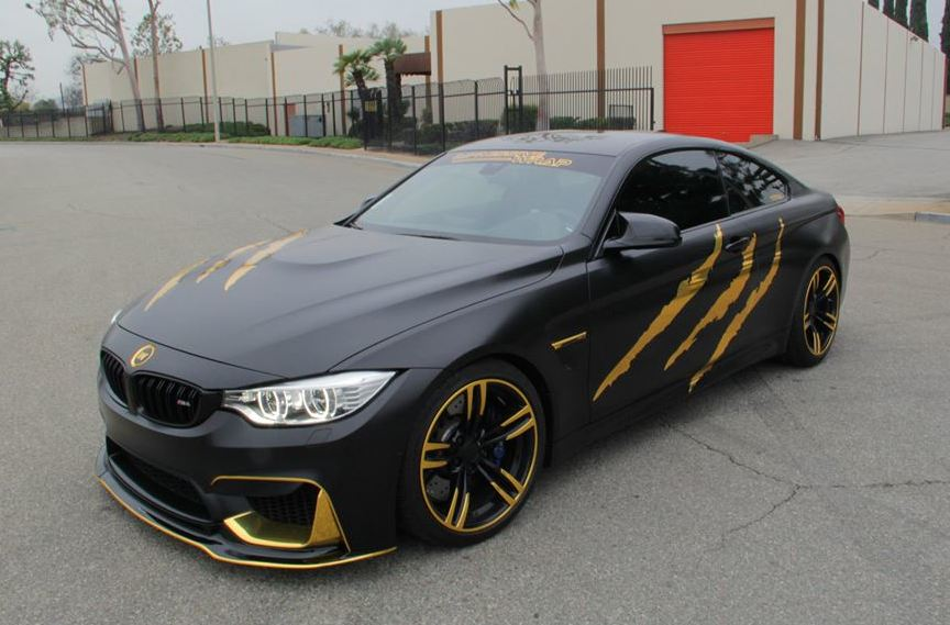 Classy Beast Bmw M4 In Satin Black And Gold Chrome