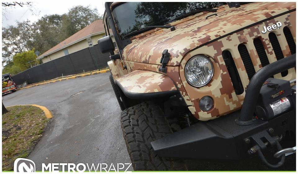 Salute Worthy Jeep Wrangler In Digital Desert Camo