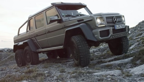 Mercedes G63 6x6 600x343 at Watch a Mercedes G63 6x6 Drive Up a Cliff