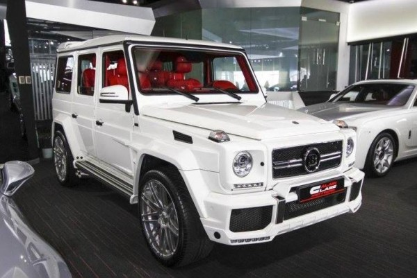 White Brabus G65 0 600x401 at White Brabus G65 Spotted for Sale at Alain Class