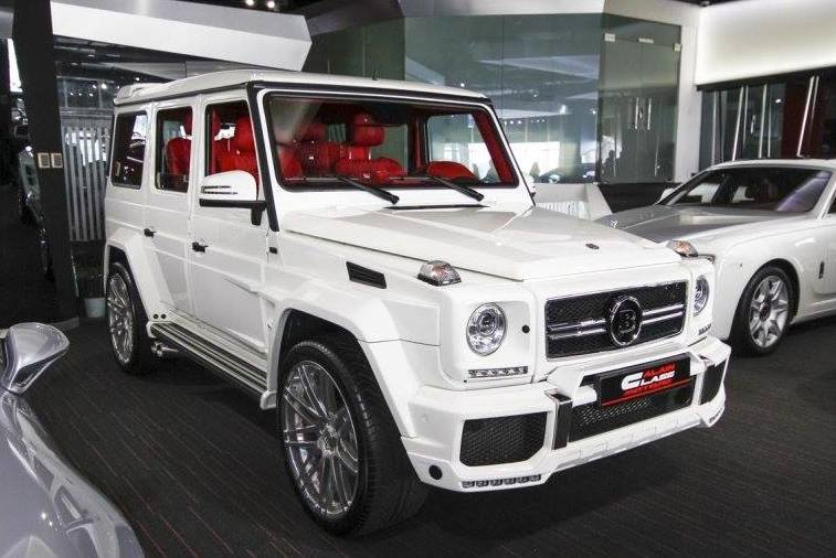white brabus g65 spotted for sale at alain class. Black Bedroom Furniture Sets. Home Design Ideas