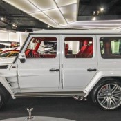 White Brabus G65 2 175x175 at White Brabus G65 Spotted for Sale at Alain Class