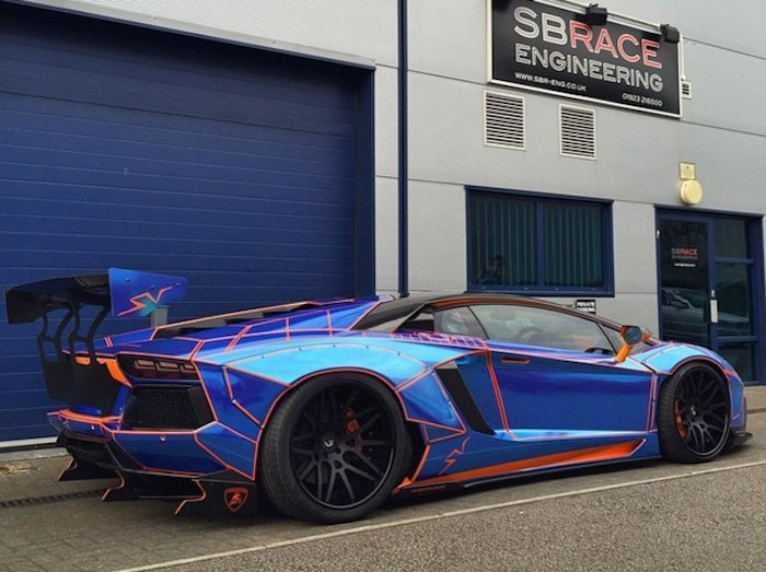 Liberty Walk Lamborghini Aventador UK 600x448 At Meet UKu0027s First Liberty  Walk Lamborghini Aventador
