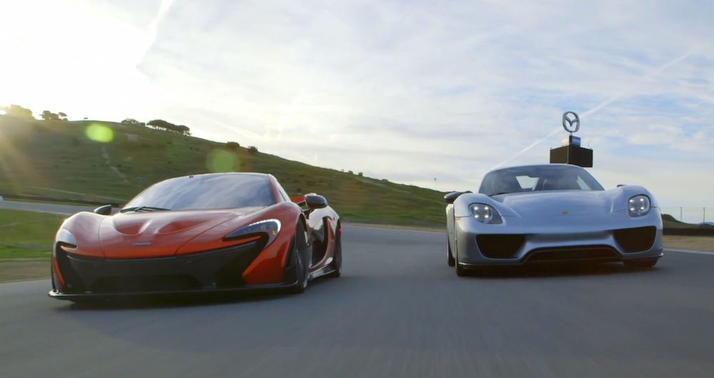 mclaren p1 vs porsche 918 in head to head battle. Black Bedroom Furniture Sets. Home Design Ideas