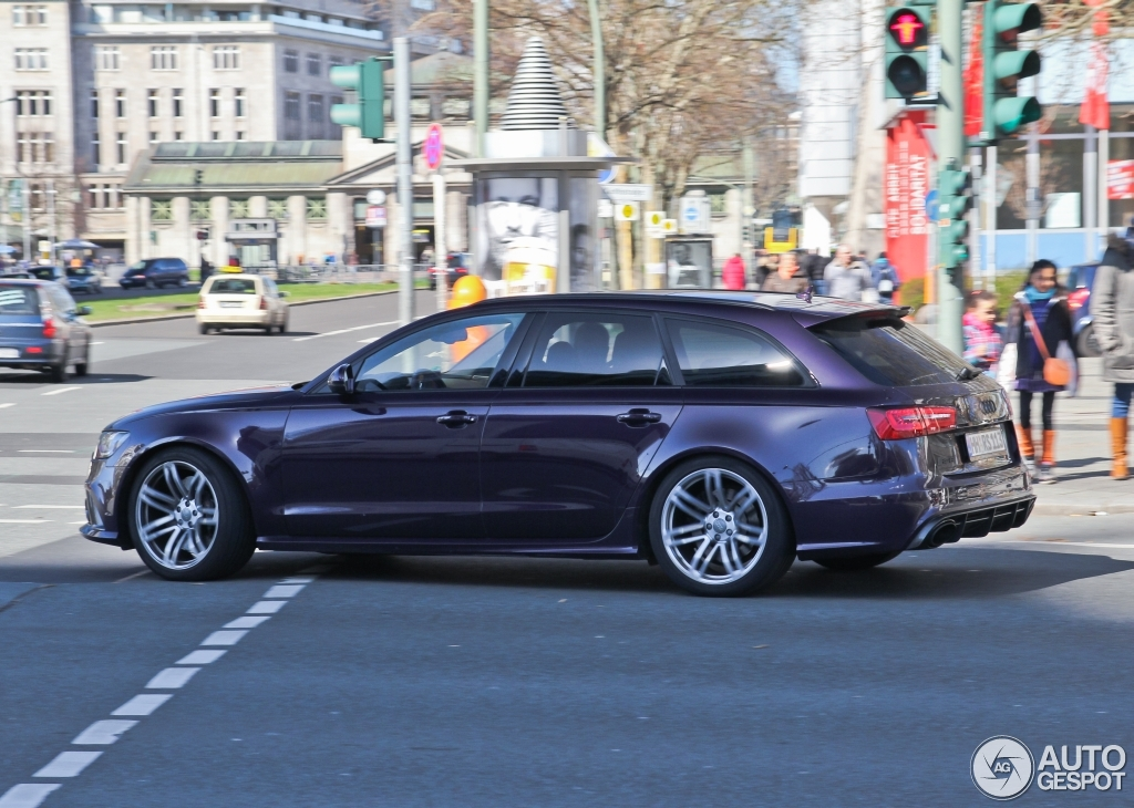 purple audi rs6 spotted in berlin. Black Bedroom Furniture Sets. Home Design Ideas