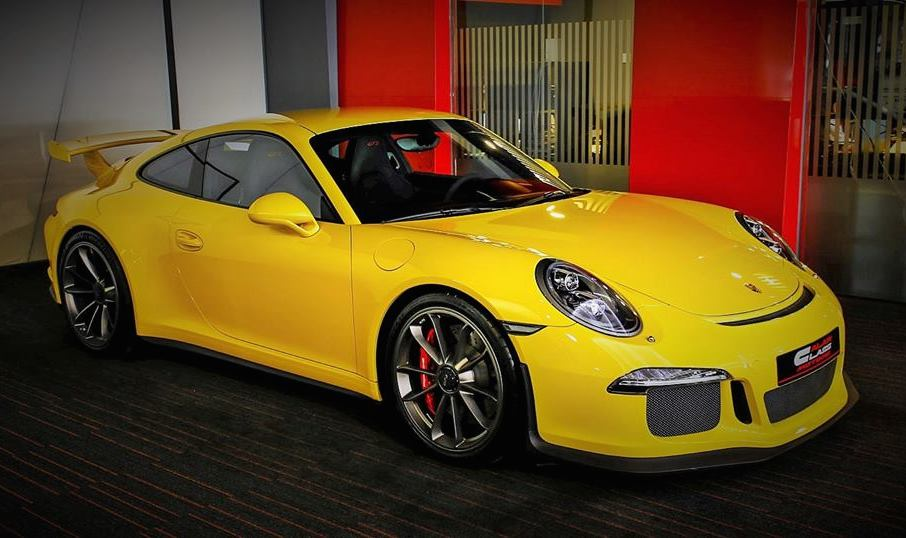 Racing Yellow Porsche 991 GT3 Spotted for Sale
