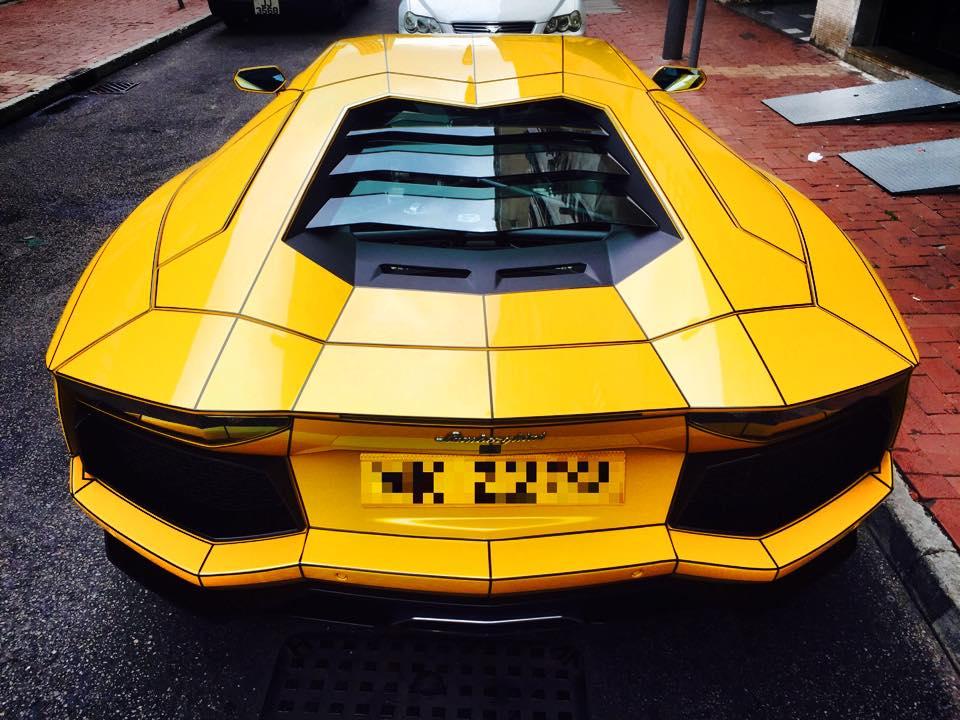 Tron Style Lamborghini Aventador By Impressive Wrap