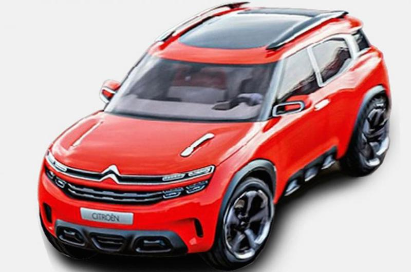 first look citroen aircross concept. Black Bedroom Furniture Sets. Home Design Ideas