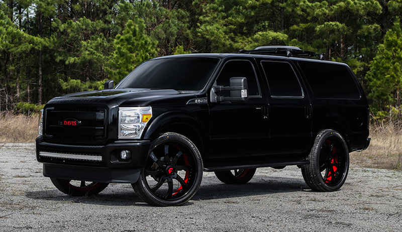 ford excursion forgiato 1 600x346 at Blacked Out Ford Excursion on Forgiato Wheels